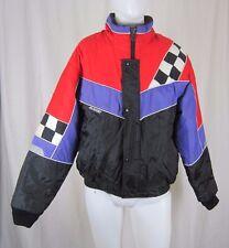 Vintage Joe Rocket Checkered Flag Loud Snowmobile Racing Jacket Parka Mens M