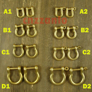 8 Styles Shackles Brass Bow / D shaped shackle for crafts key chain ring use