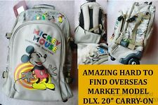 """NEW RARE NON-USA SALES WALT DISNEY MICKEY MOUSE 20"""" ROLLABOARD/BACKPACK/SUITCASE"""