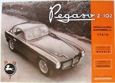 Pegaso Z-102 Coche Original Hoja de ventas 1953