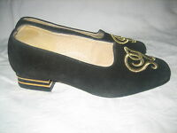 CHAUSSURES T 38 DAIM NOIR MADE IN FRANCE NEUVES