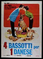 Manifesto 4 Bassets Per 1 Danés Walt Disney Dean Jones Suzanne Ples M288
