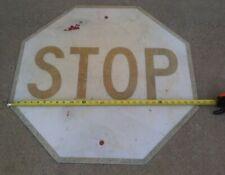 "30"" x 30"" Used STOP Sign Road TRAFFIC HIGHWAY 2 3 4 Way Vintage"