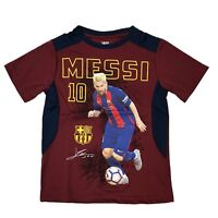 FC Barcelona messi 10  jersey Youth Boy Soccer Photo Jersey Official Licence