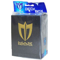 Trading Card Supplies - Max Protection Deck Armor Box - BLACK - New