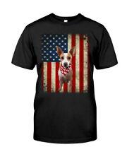 American Rat Terrier Dog American Flag Gift Ideas Dog Lover T-Shirt