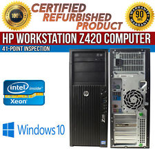 HP WorkStation Z420 Tower Xeon Quad Core 8GB RAM 1TB HDD Win 10 Pro Desktop