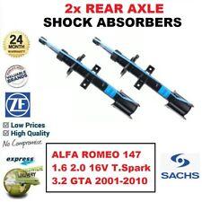 REAR SACHS SHOCK ABSORBERS for ALFA ROMEO 147 1.6 2.0 16V T.S 3.2 GTA 2001-2010
