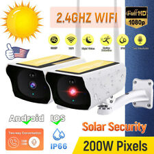 Solar IP Camera Wireless WiFi Security HD 1080P Waterproof Night Vision Outdoor