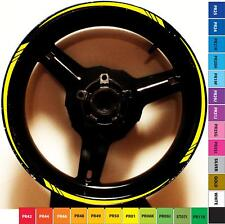 CUSTOM TAPERED GP STYLE YELLOW MOTORCYCLE RIM STRIPES WHEEL TAPE DECALS STICKERS