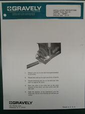 1972 GRAVELY ROLLER REST KIT MODEL 14688E1 INSTALLATION MANUAL