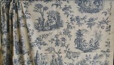 Christopher Moore Pastoral Wedgwood Blue Toile de Jouy Fabric Four Seasons 5y