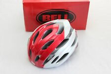 New Bell Event Road Bike Helmet White Red Cycling Vented Large 58-62cm