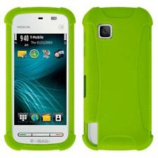 AMZER SILICONE SOFT SKIN JELLY FIT CASE COVER FOR NOKIA NURON 5230 - GREEN
