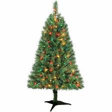 Winston Pine 3' Artificial PreLit Multi-Color Lights Christmas Tree w/Base