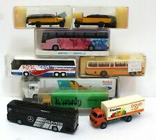 Lot of 9 1:87 HO Trucks & Buses Most Boxed Rietze RMM Roskopf Pauls Model Art