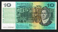 Australien / Australia P.45b 10 Dollars, 1984 - 1989