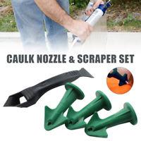 Caulk Nozzle and Scraper Set Reusable Caulk Remover Sealing Caulking Tool New