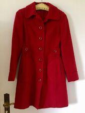 H & M Damenmantel rot Vintage Style, Übergangsmantel Größe 34 36