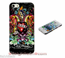 BUMPER CUSTODIA COVER X APPLE IPHONE 5 TATTOO ED HARDY teschio Skull JAPAN CASE