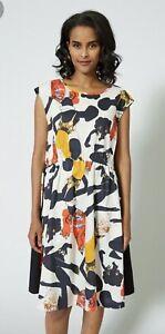 """GORMAN Jamilla Okubo """"Skethcbook"""" Draw Tie Waist Organic Cotton Dress sz 12"""