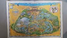 More details for 1975 walt disney's guide to disney land map large collectors map 114cm by 76cm