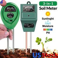 3 in 1 Soil Water Moisture PH Meter Acidity Humidity Sunlight Test Moist Tester