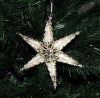 Gablonzer Christbaumschmuck · GROSSER STERN mit WATTE, Ornament um 1930 · #349