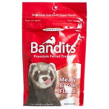 Marshall Pet Bandits Ferret Treat, Meaty Bacon, 3oz  (Free Shipping in USA)