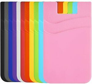 Two Pockets Cell Phone Credit Card Holder Wallet Sticker for Key Adhesive