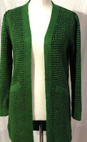 Womens Ladies New Knitted Chunky Open Front Knitted Cardigan Jumper with Pockets