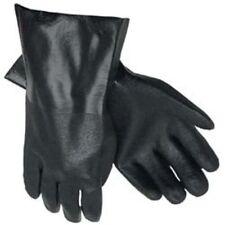 "MCR Safety 6522SJ Double-Dipped PVC Plasticsol Gloves 12"" Black Large 1-Pair"
