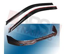 1996 -98 Honda Civic 2/3DR Jun Carbon Fiber Front Lip +Carbon Fiber Window Visor
