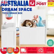Kid Toy Box Organiser Storage Rack Cabinet Wooden Bookcase Furniture Shelf White
