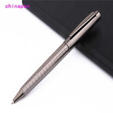 Luxury 800 Gray  line Business office Blue ink nib Ballpoint Pen New