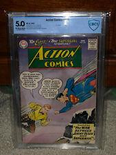 Action Comics #253 CBCS 5.0 DC 1959 Superman 2nd Supergirl Free CGC Mylar! K2 cm