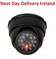 Dummy Fake Camera Indoor Surveillance Dome CCTV Security Flashing Red LED Home
