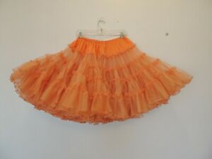 Vintage square dancing petticoat size small to medium very full orange