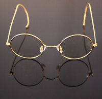 48mm 50mm Wire Rim Antique Vintage Round nose pad Eyeglass Frames Spectacles RX