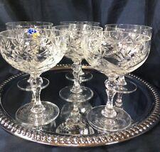 Crystal Glass Set of 6 Champagne Martini Margarita Wine 7 oz  Russian Cut NEMAN