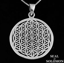 Flower of Life Sacred Geometry Pendant in Sterling Silver 925