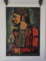 "Georges Rouault ""Old King"" Xtrmly Rare Vintage Lithograph"