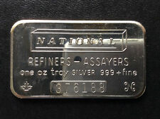 1981 National Mint Commercial Bullion NAT-1 Silver Art Bar A4928