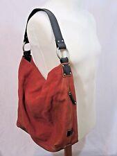 Ellington Sadie Hobo Handbag Linen Glazed Italian Leather 3347 Terra Cotta Purse