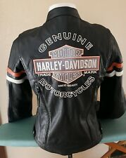 Harley davidson womens Miss Enthusiast reflective small leather jacket