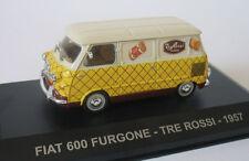 Fiat 600 Furgone, Trade Van Tre Rossi 1957 Cars, IXO Altaya  1/43  Diecast  NEW!