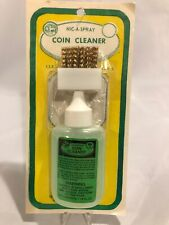 Nic A Spray For Silver & Gold Coins Kit Bottle Cleaner Solution + Brush & Holder