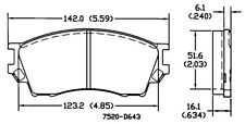 Front Brake Pad Set For 1995-2002 Mazda Millenia 1996 1997 1998 1999 2000 N749SR