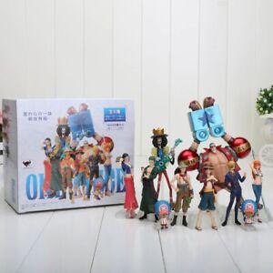One Piece 10 Pcs/Set mini action figure toy models Luffy Zoro Sanji PVC figurine