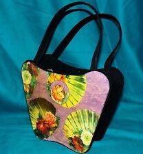 Vintage Angela Frascone San Francisco Boho Chic Roses Shells Resin Handbag Purse